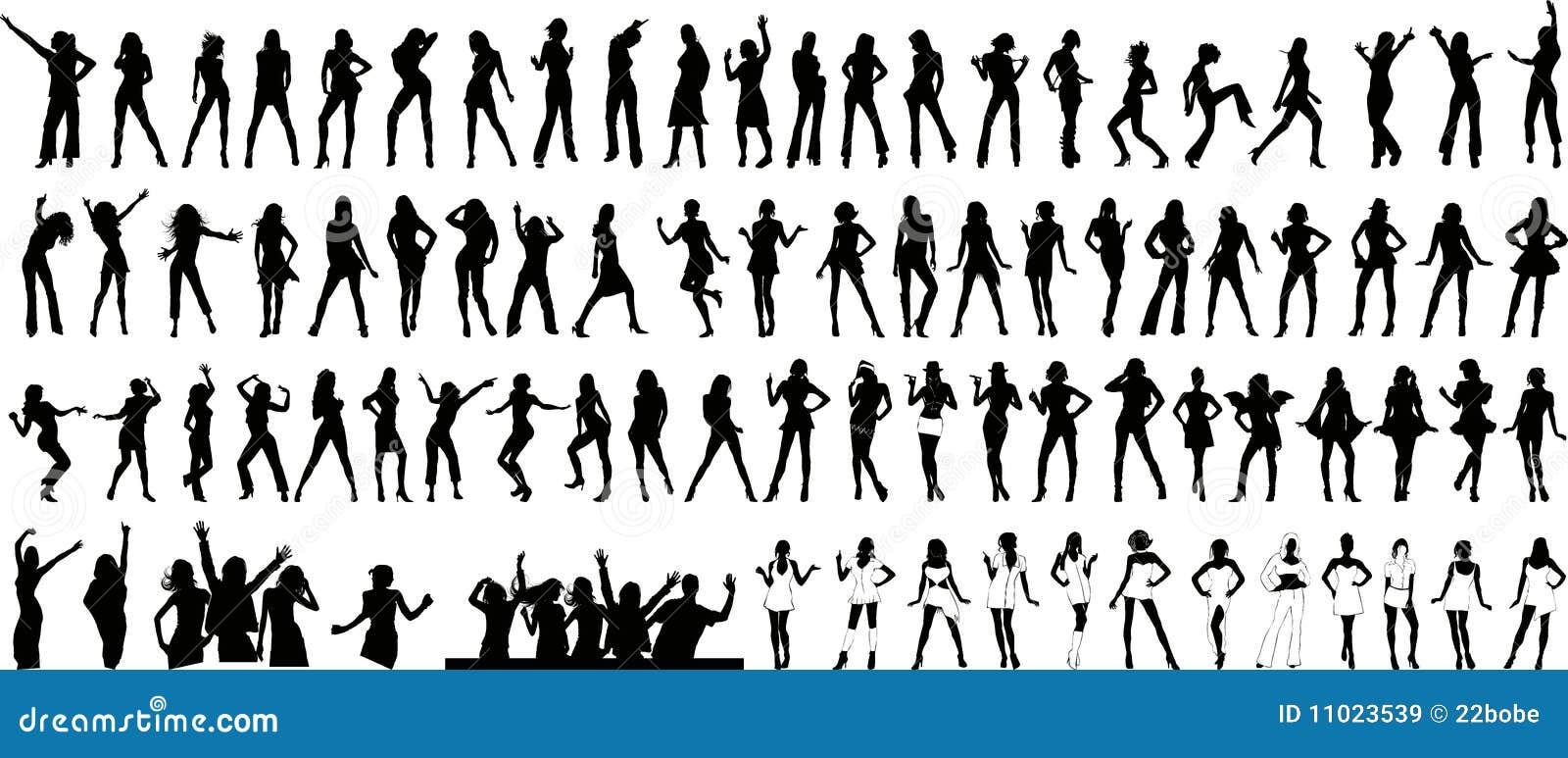 Girls silhouette (+ vector)