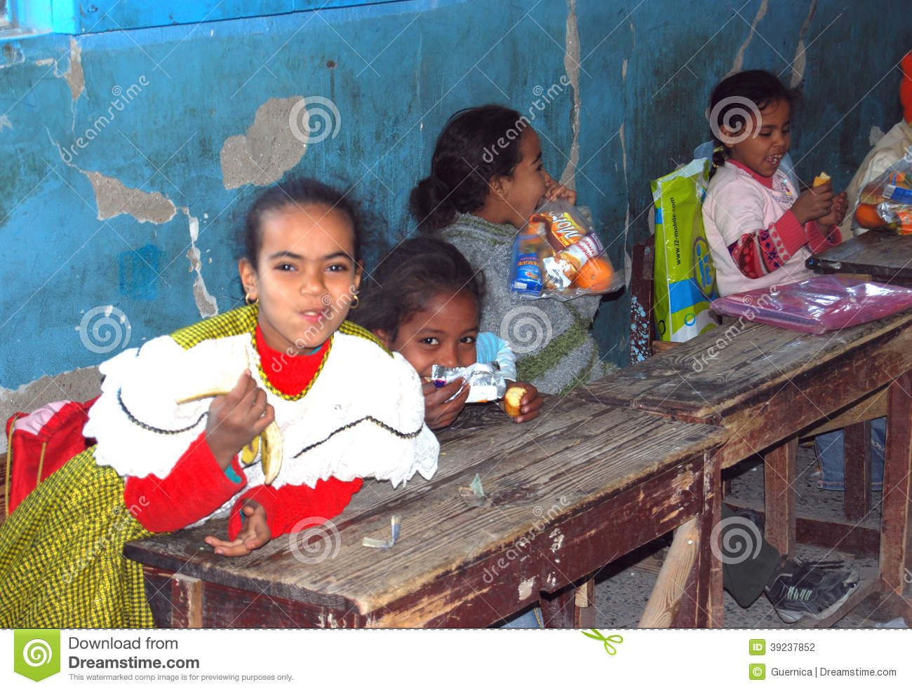 Girls Sitting On Their Disks At School In Egypt Editorial Photography Image 39237852
