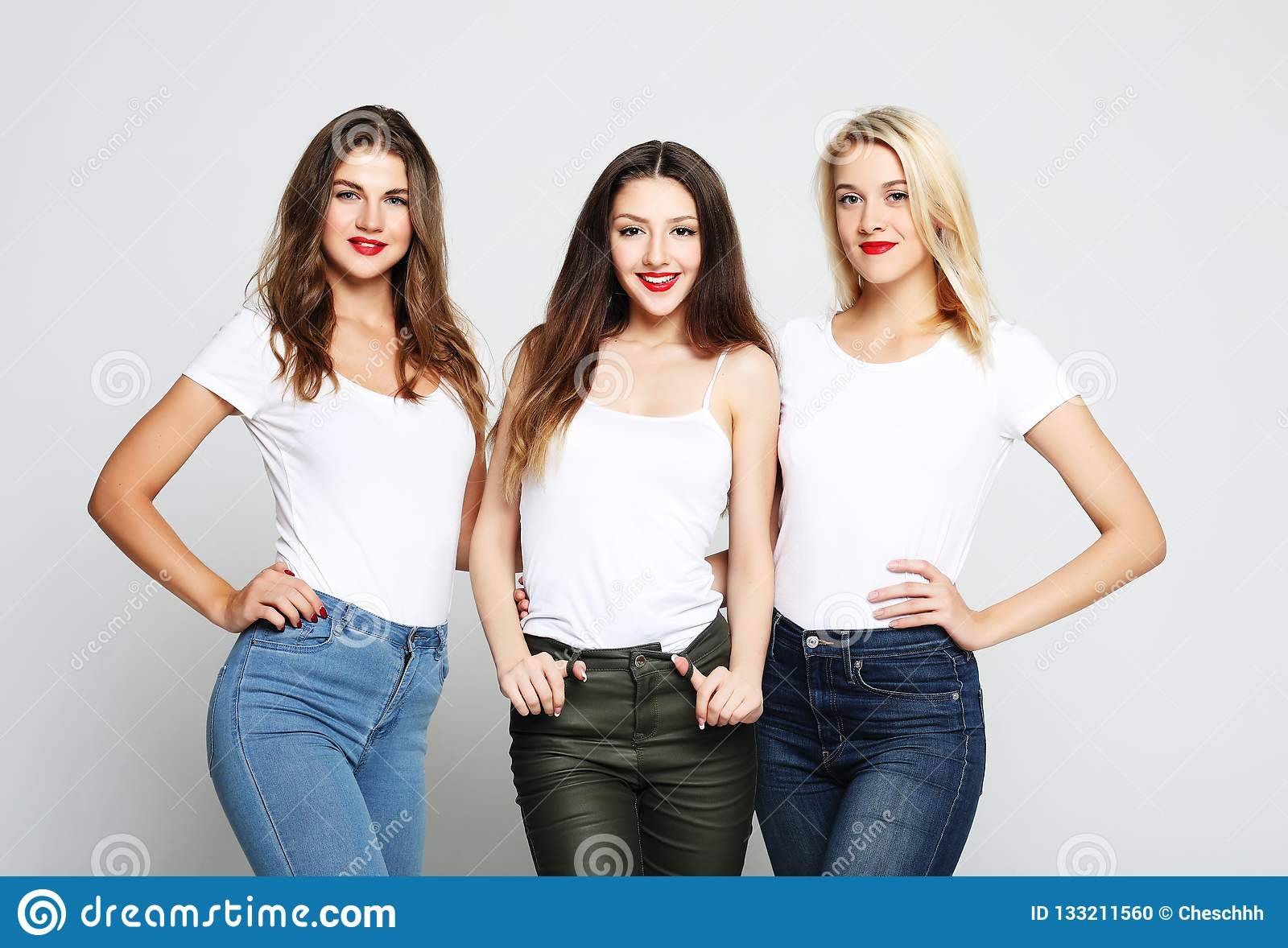 Girls Smiling And Having Fun Stock Photo Image Of Friends Cute 133211560
