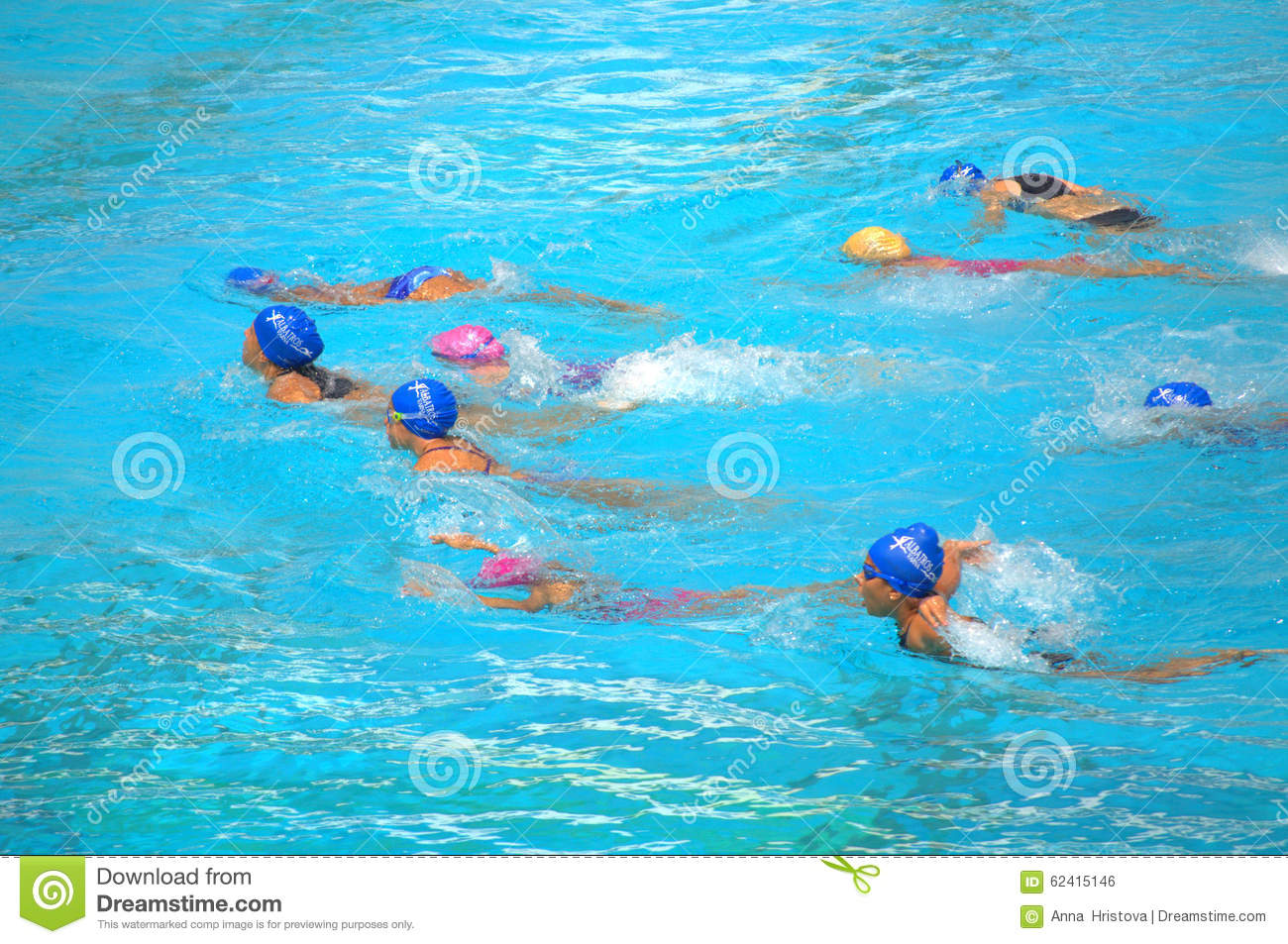 Girls Swimming Competition Editorial Photo Image Of Class 62415146