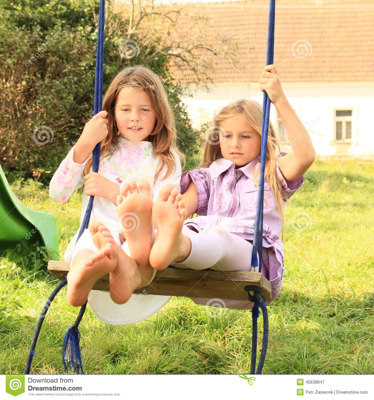 Simply magnificent girls swinging with girls special case