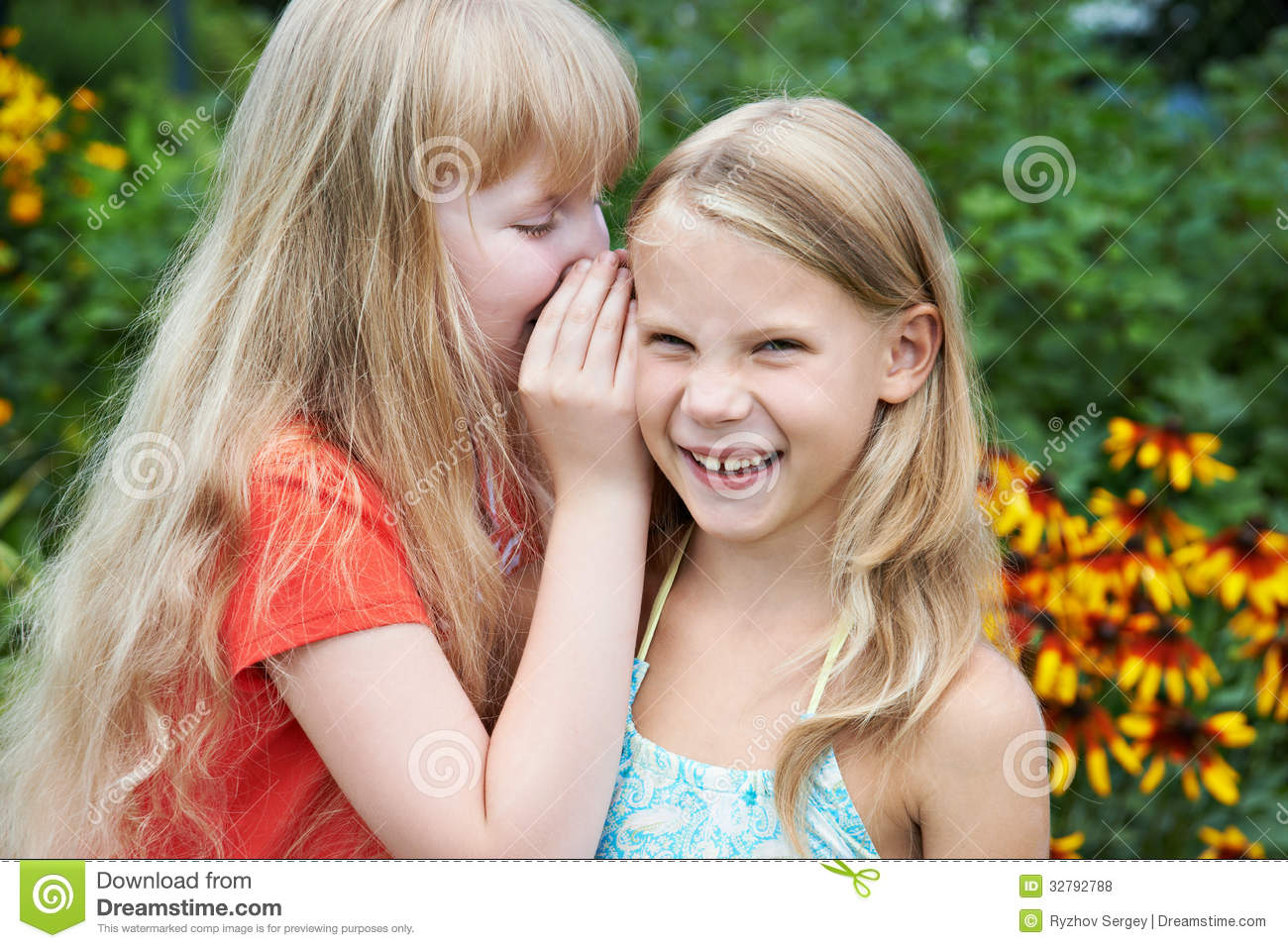 Girls Tell Each Other Secrets Stock Photo - Image of kids