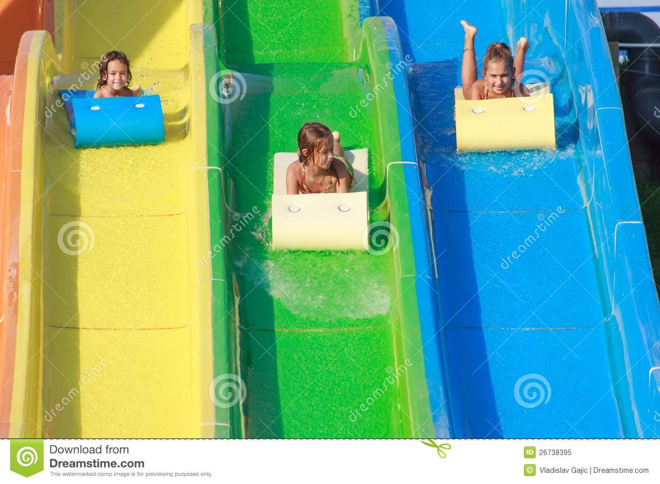 Elegant Water Slide Royalty Free Stock Photo  Image 26135785