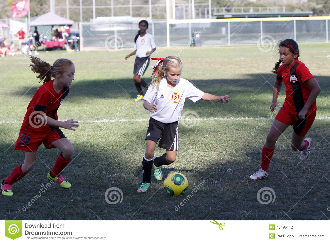 Girls Youth Soccer Football Players Running For The Ball Editorial Image -9249