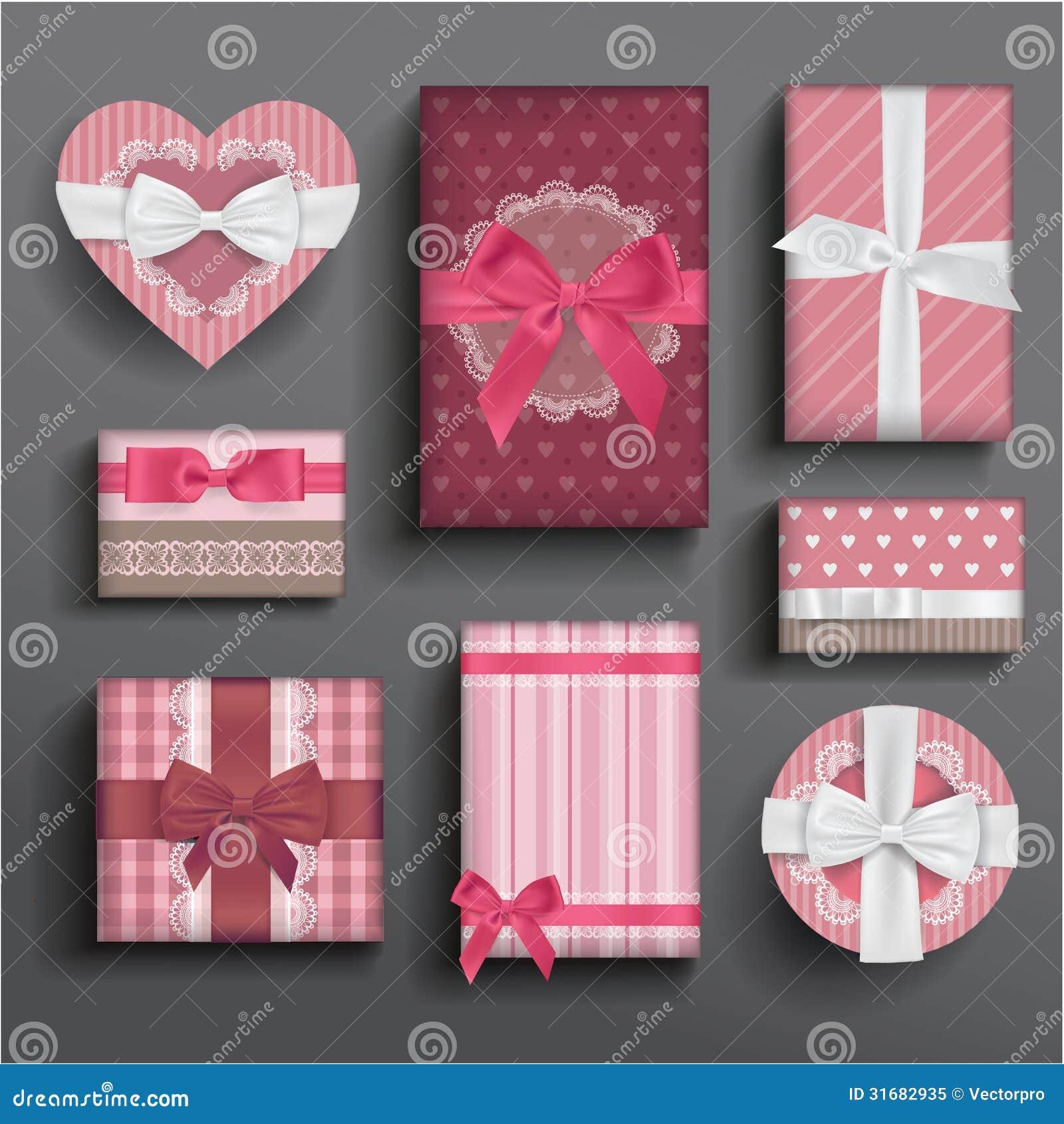 girly boxes and bows stock illustration  image of ribbon