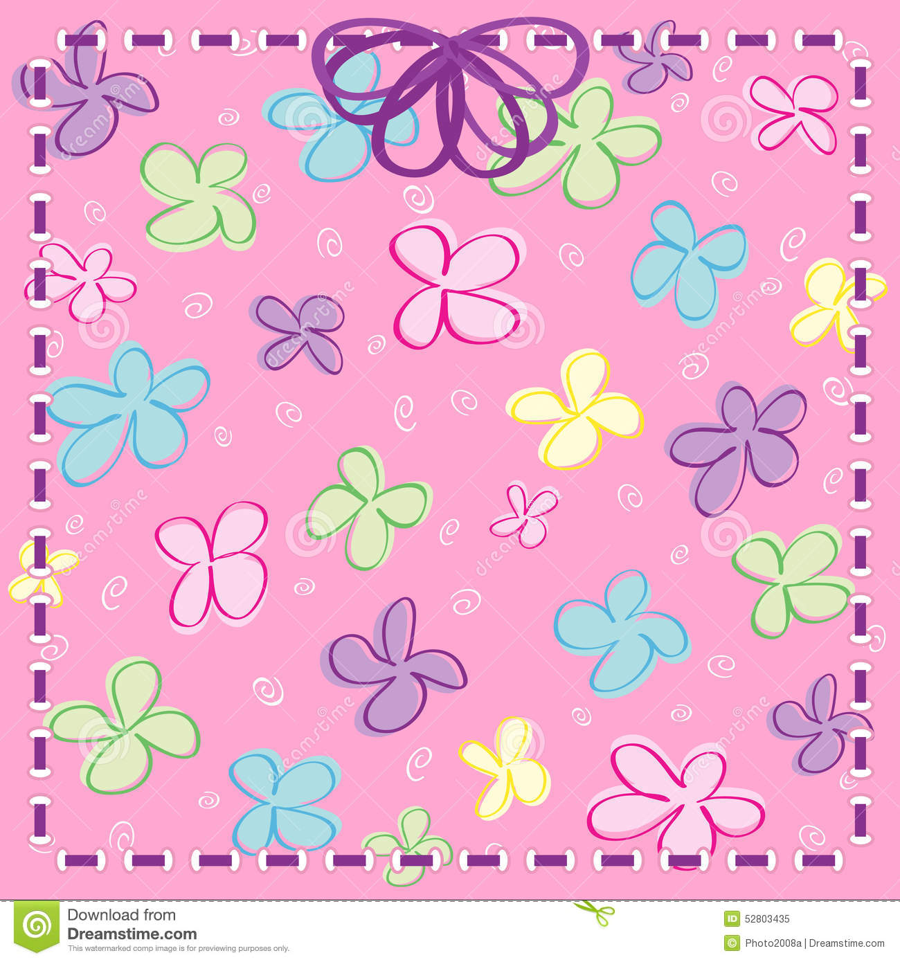 Girly Flowers with Ribbon & Bow