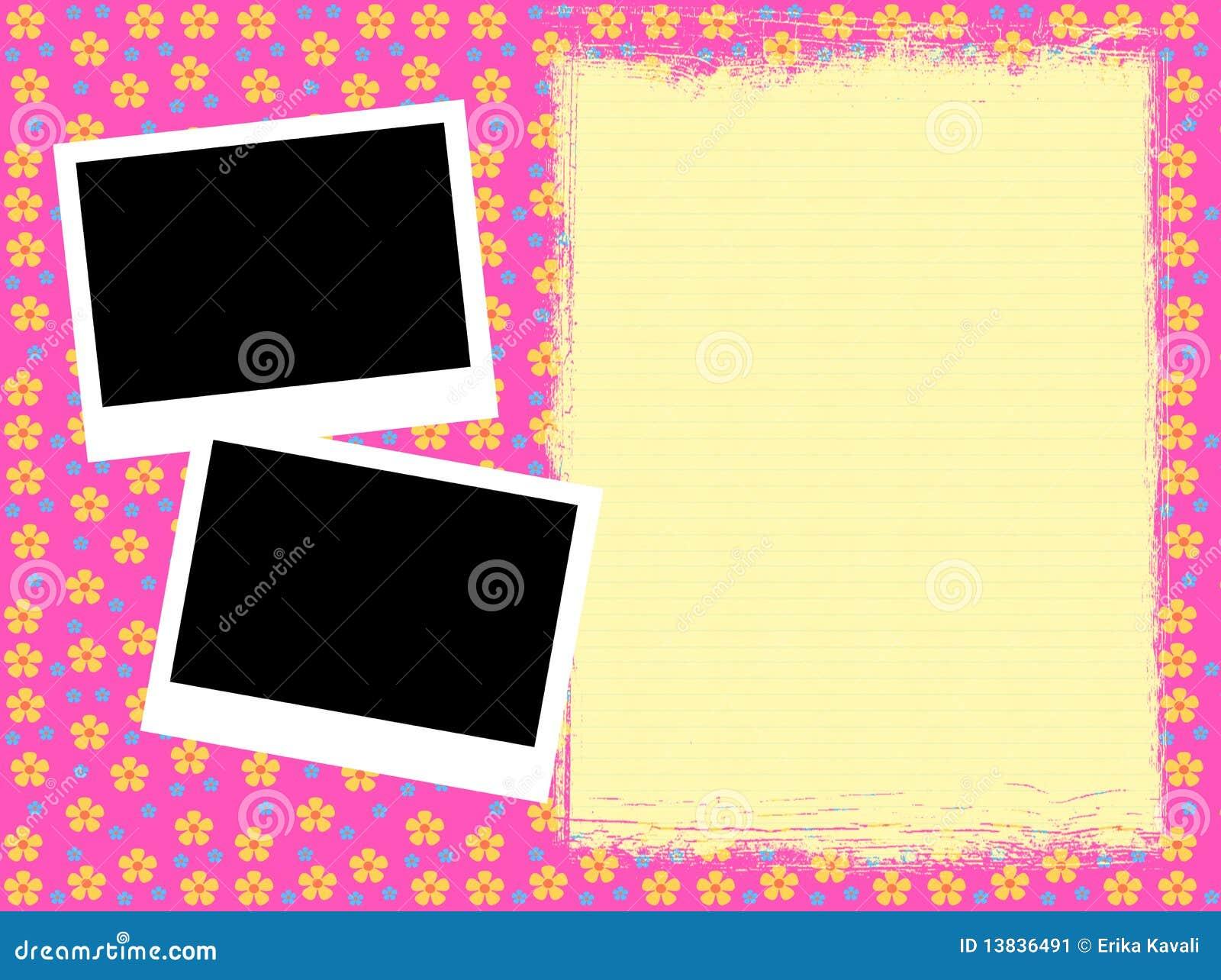 Girly Rahmen stock abbildung. Illustration von papier - 13836491