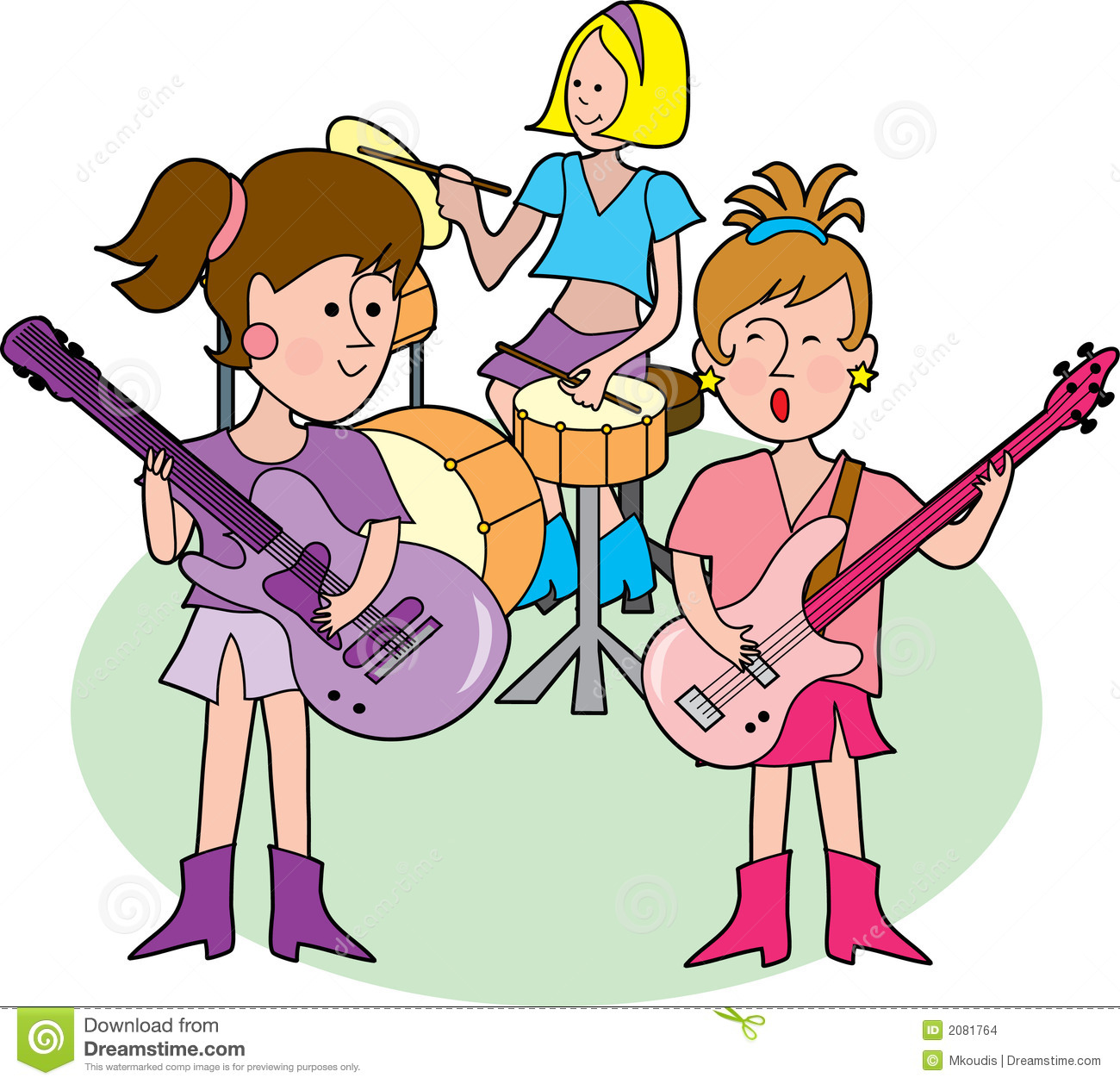 clipart of music bands - photo #49
