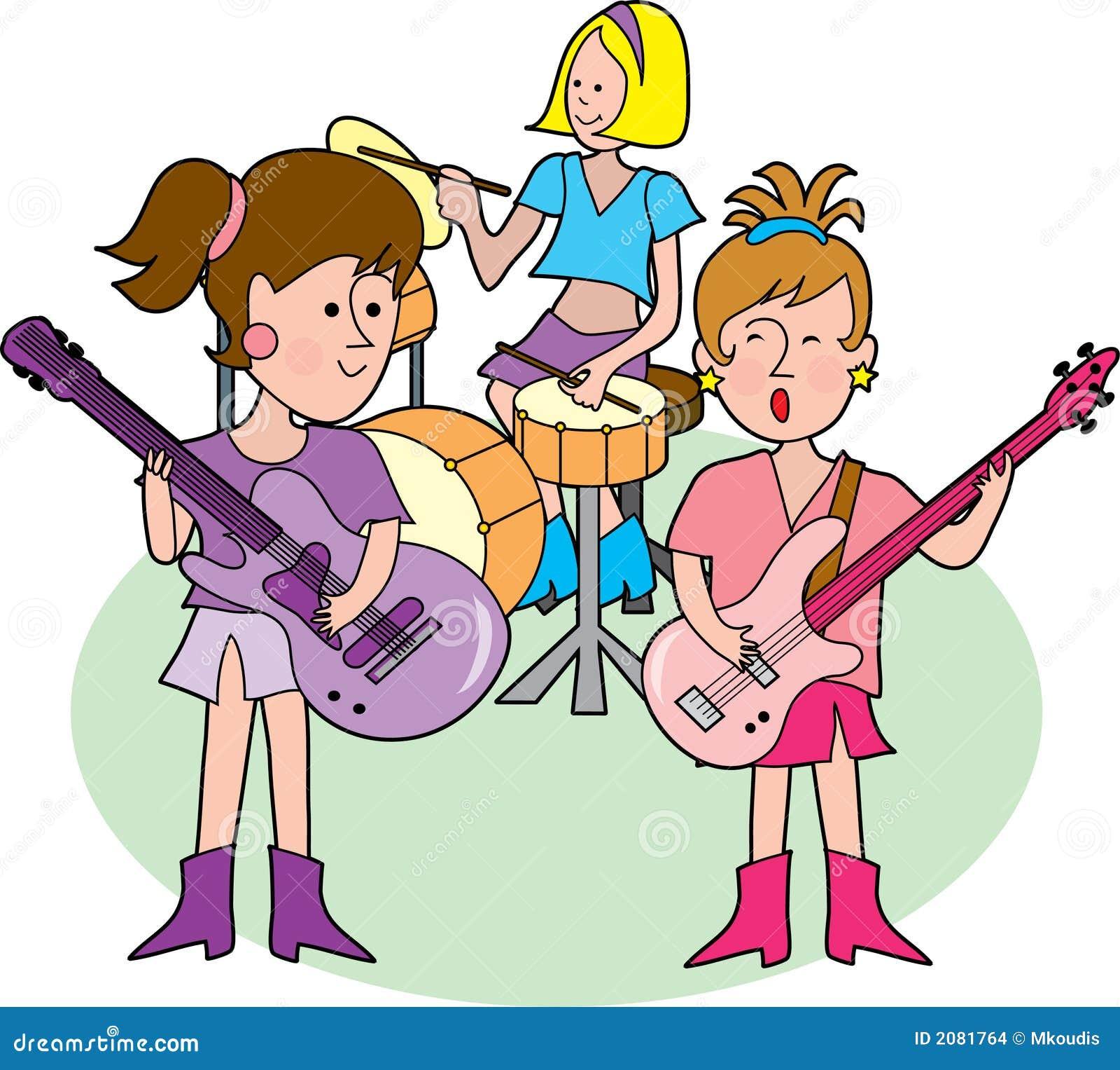 free cartoon rock band clipart - photo #41
