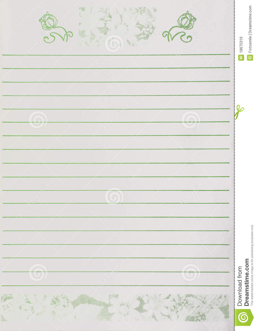 Girly Sheet Of Paper Royalty Free Stock Images - Image: 18675319