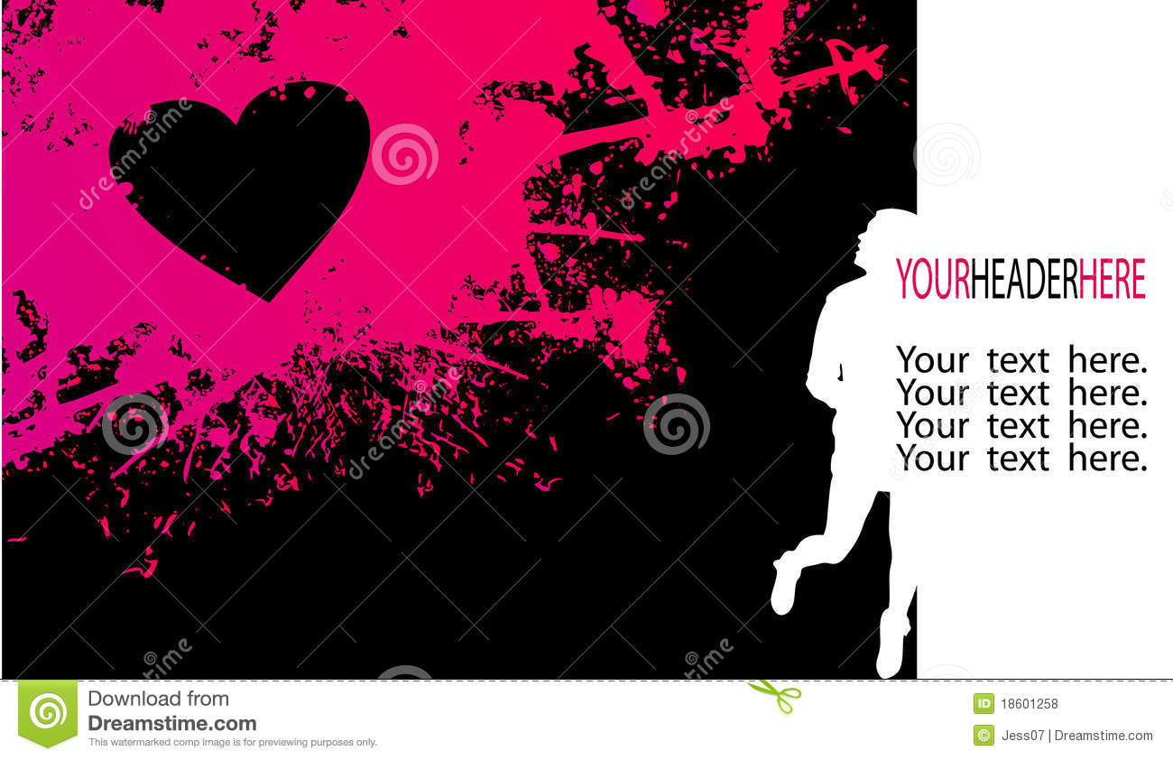 Girly Background Royalty Free Stock Photo: Girly Silhouette And Pink Stain Stock Illustration