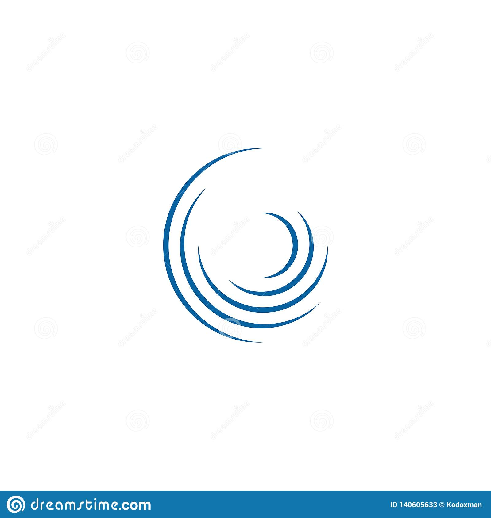Giro de gerencio Logo Template do Swoosh abstrato