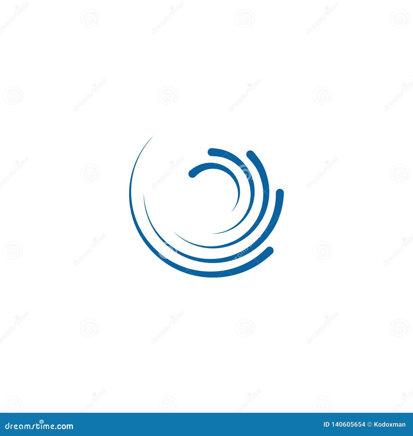 Giro de gerencio Logo Template do Swoosh abstrato