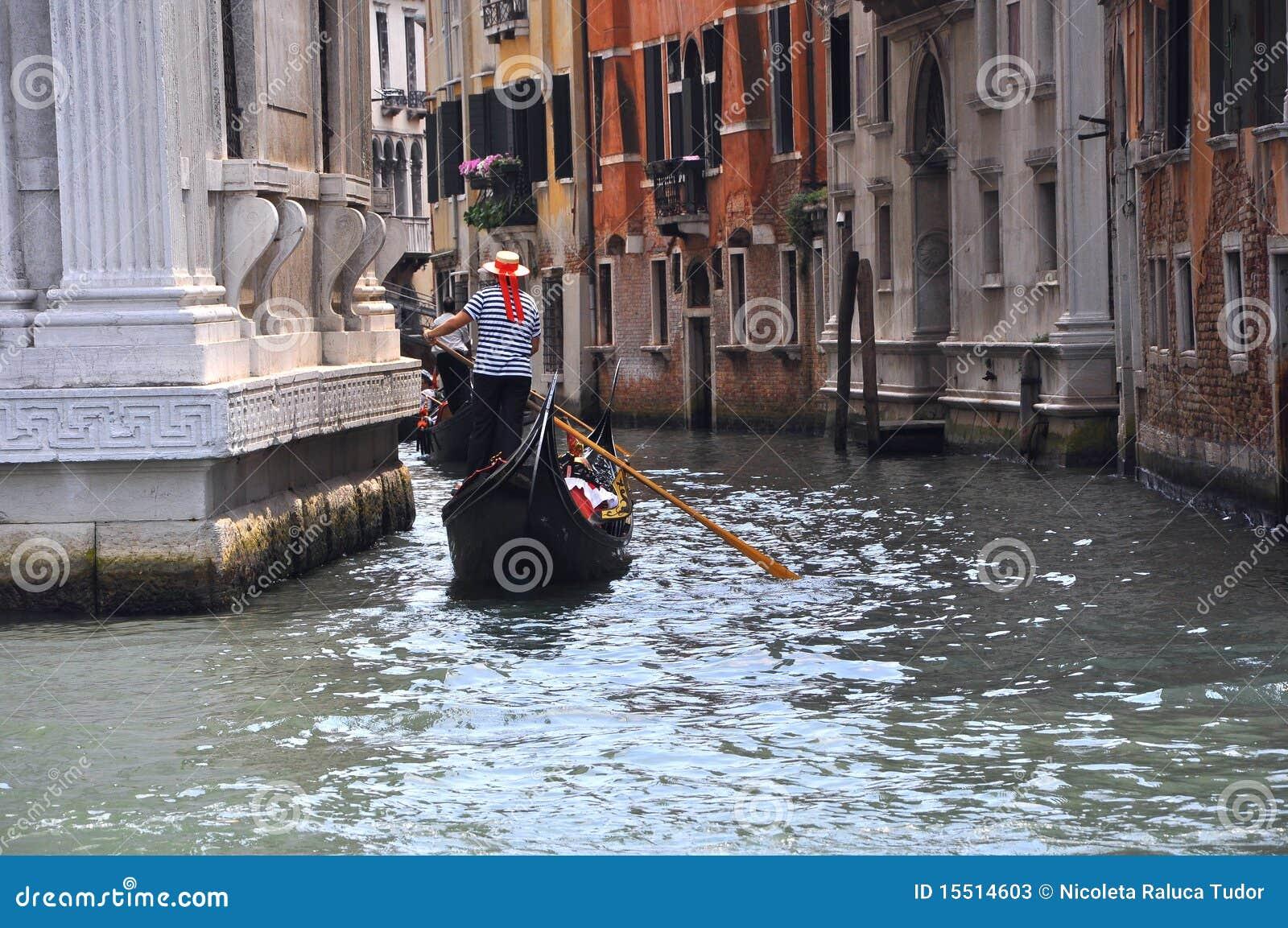 Giro della gondola a Venezia, Italia