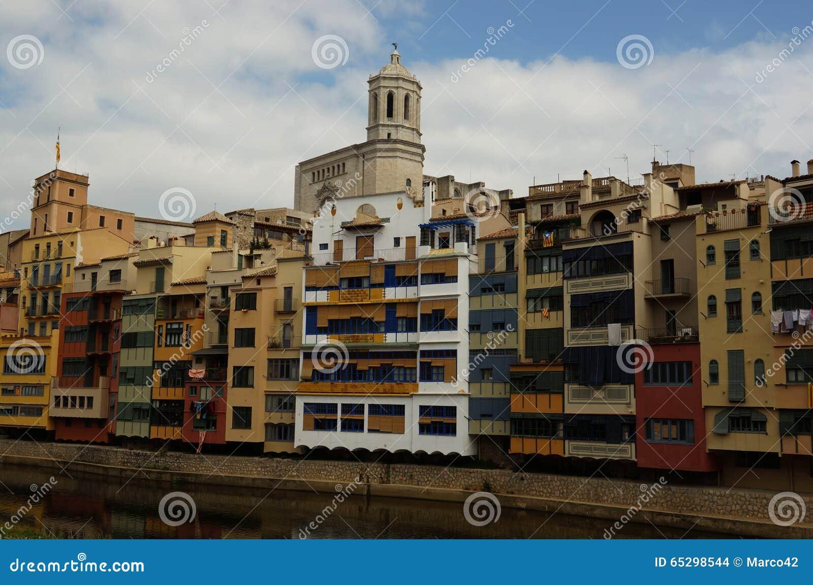 Girona Barcellona fotografia stock. Immagine di cattedrale - 65298544