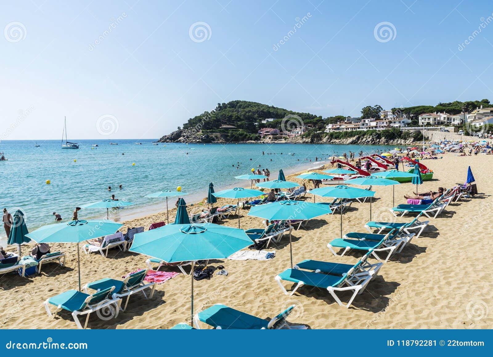 La Fosca Beach Costa Brava Girona Catalonia Spain Editorial