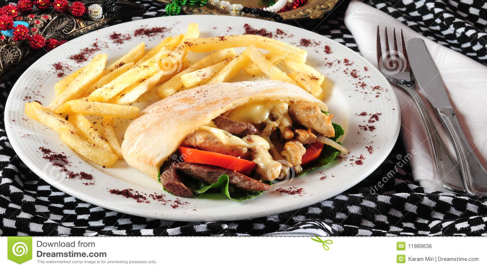 Giroscópio ou sanduíche do shawarma