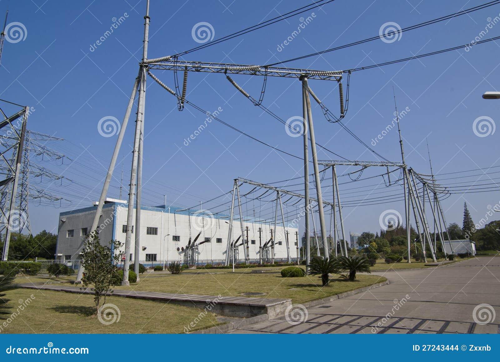 GIS substation stock photo  Image of steel, transmission