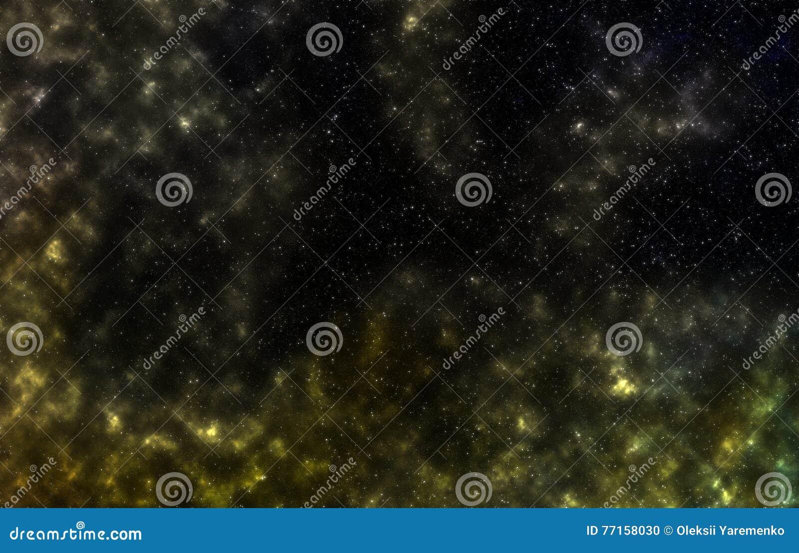 Gisement d étoile dans l espace lointain beaucoup d années lumière loin de la terre