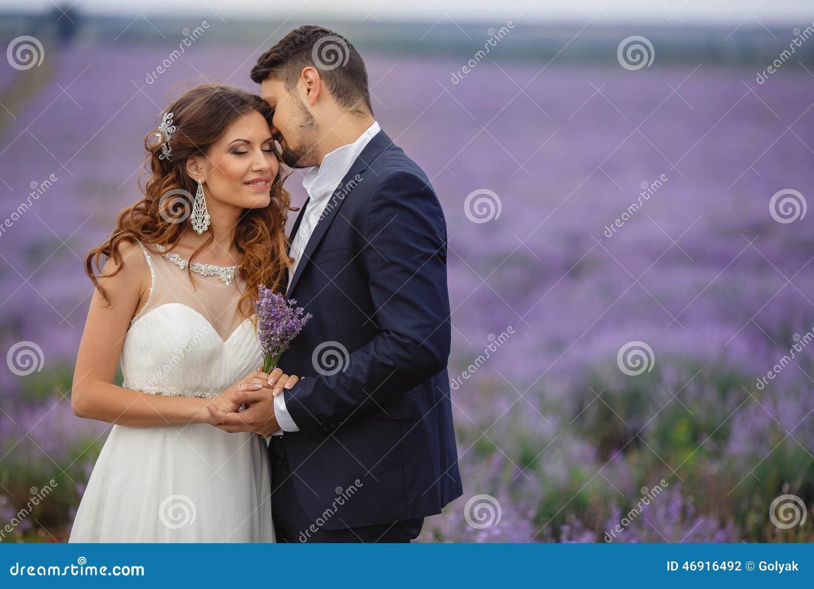 Gisement de lavande de mariage