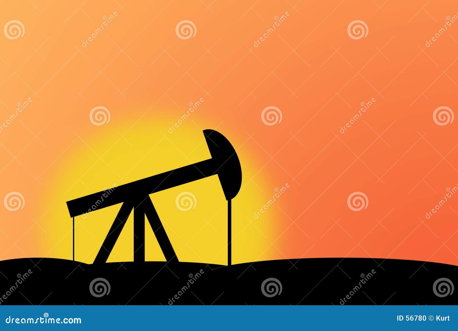 Download Gisement de pétrole illustration stock. Illustration du rising - 56780