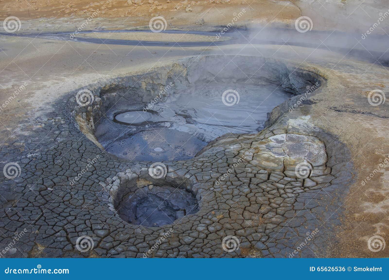 Gisement géothermique de hverir de Namafjall Hverarondor en Islande Ceci I