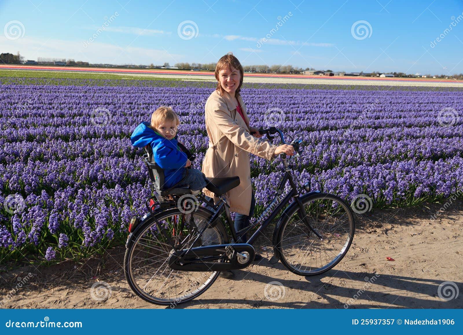 Gisements de fleur de famille au printemps