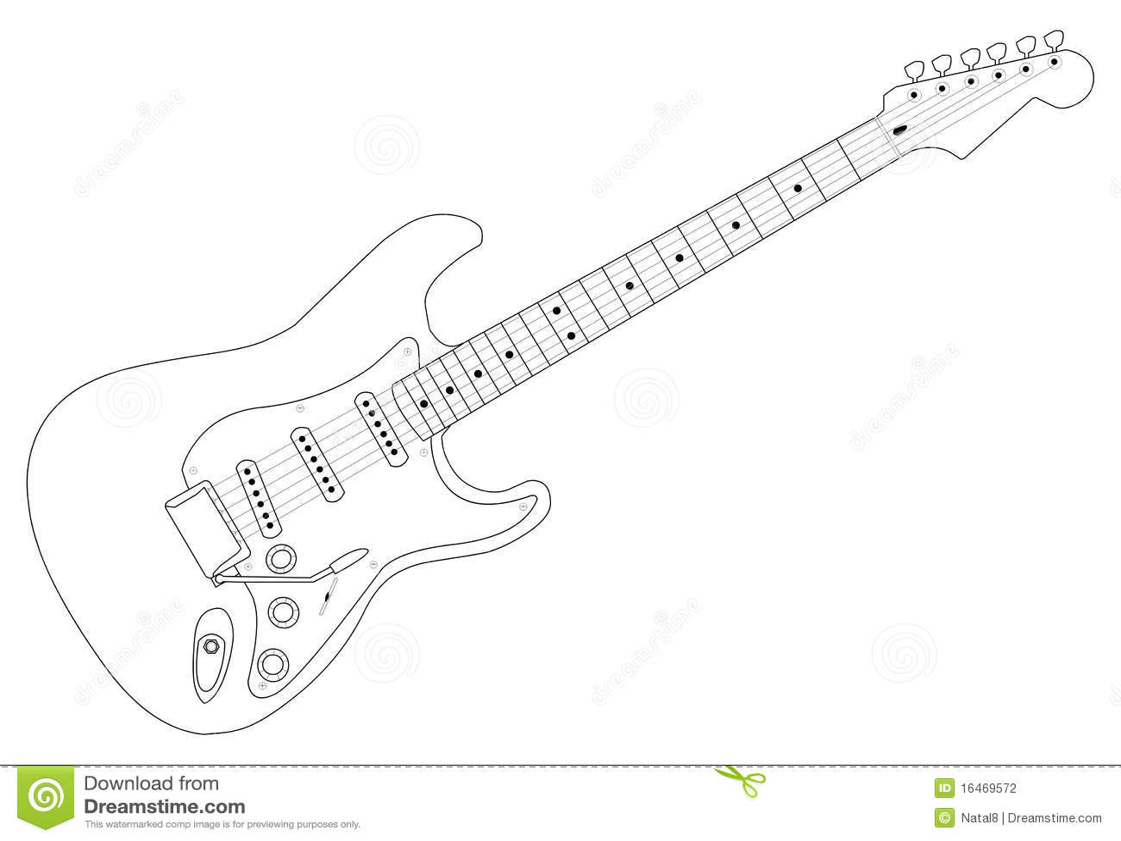 gitaar 01 stock illustratie illustratie bestaande uit