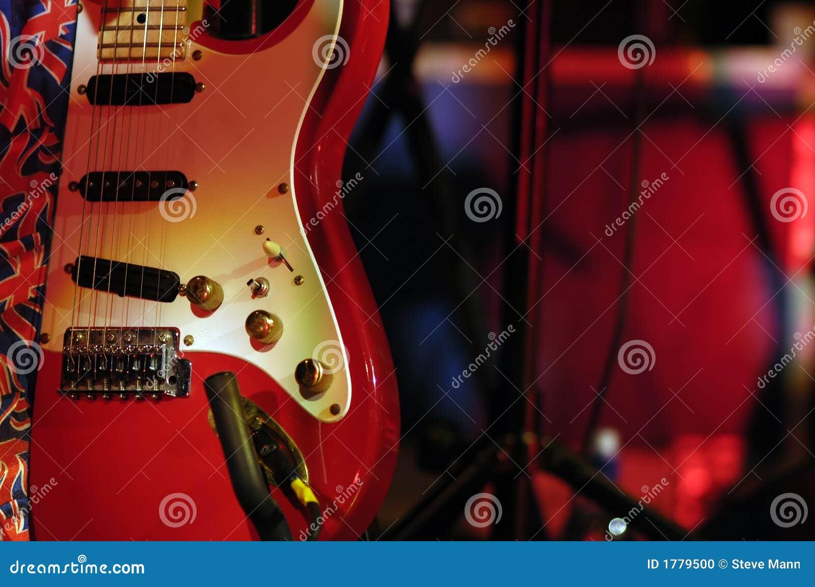 Gitara czerwone światła