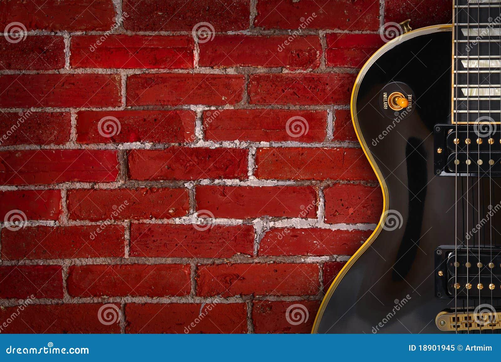 Gitarre auf Hintergrund - Musik