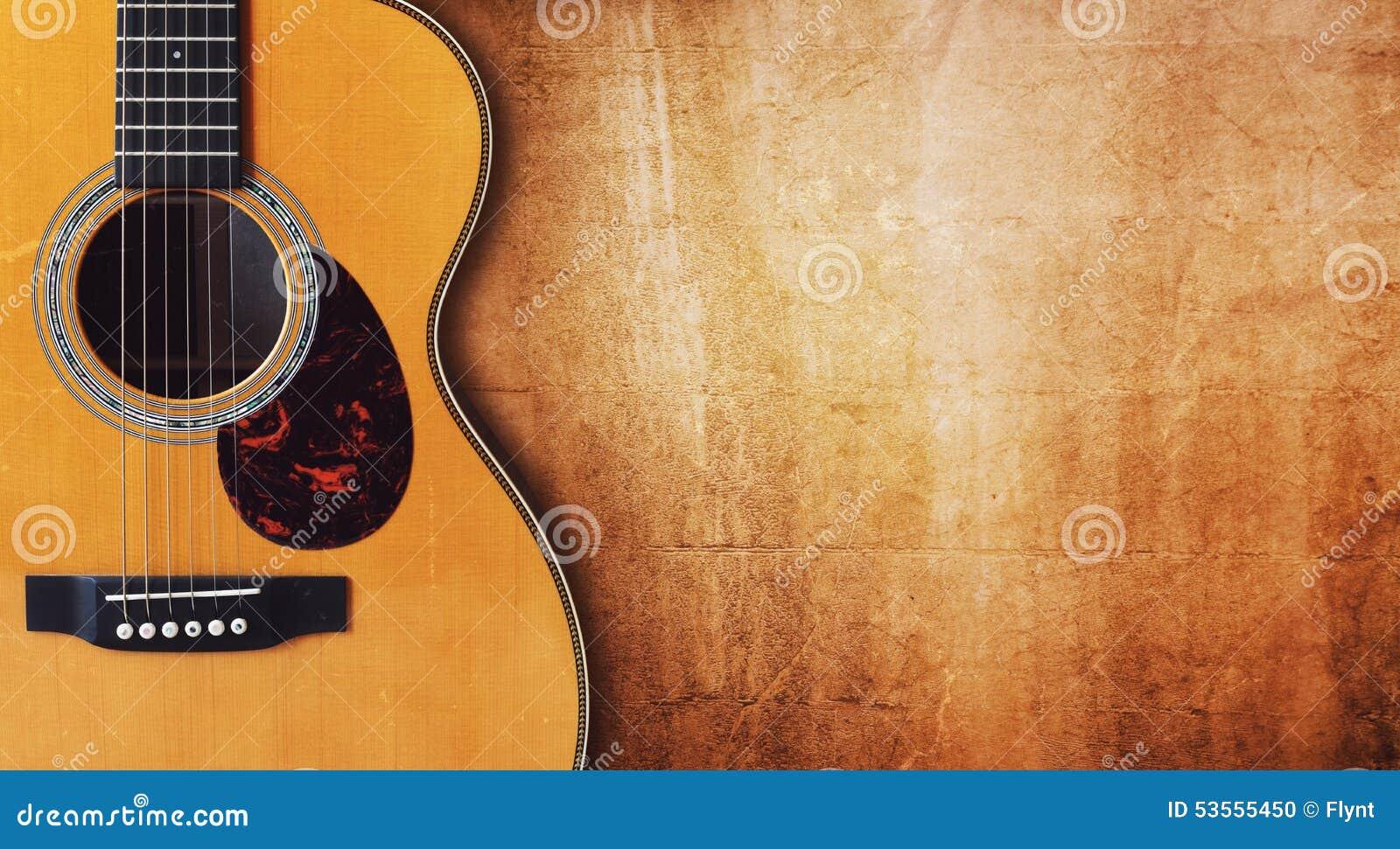 Gitarre und leerer Schmutzhintergrund