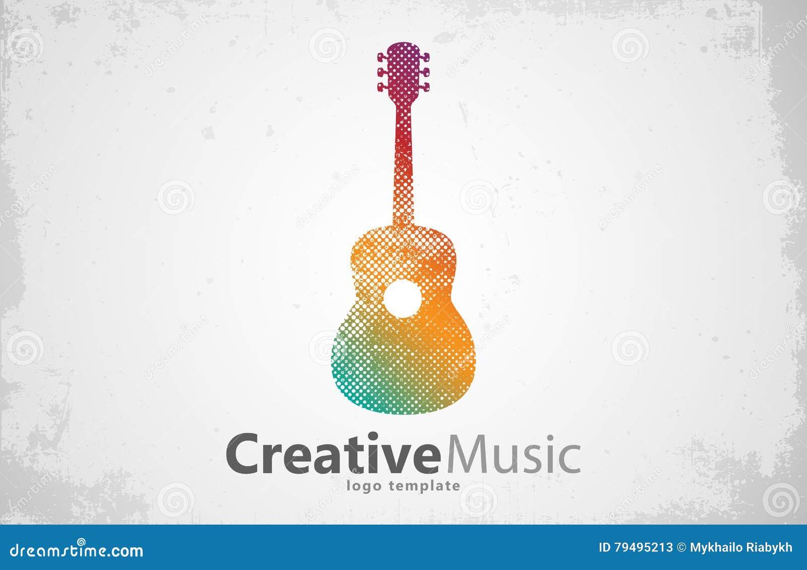GITARREN-LOGO kreativ Musik Entwurf