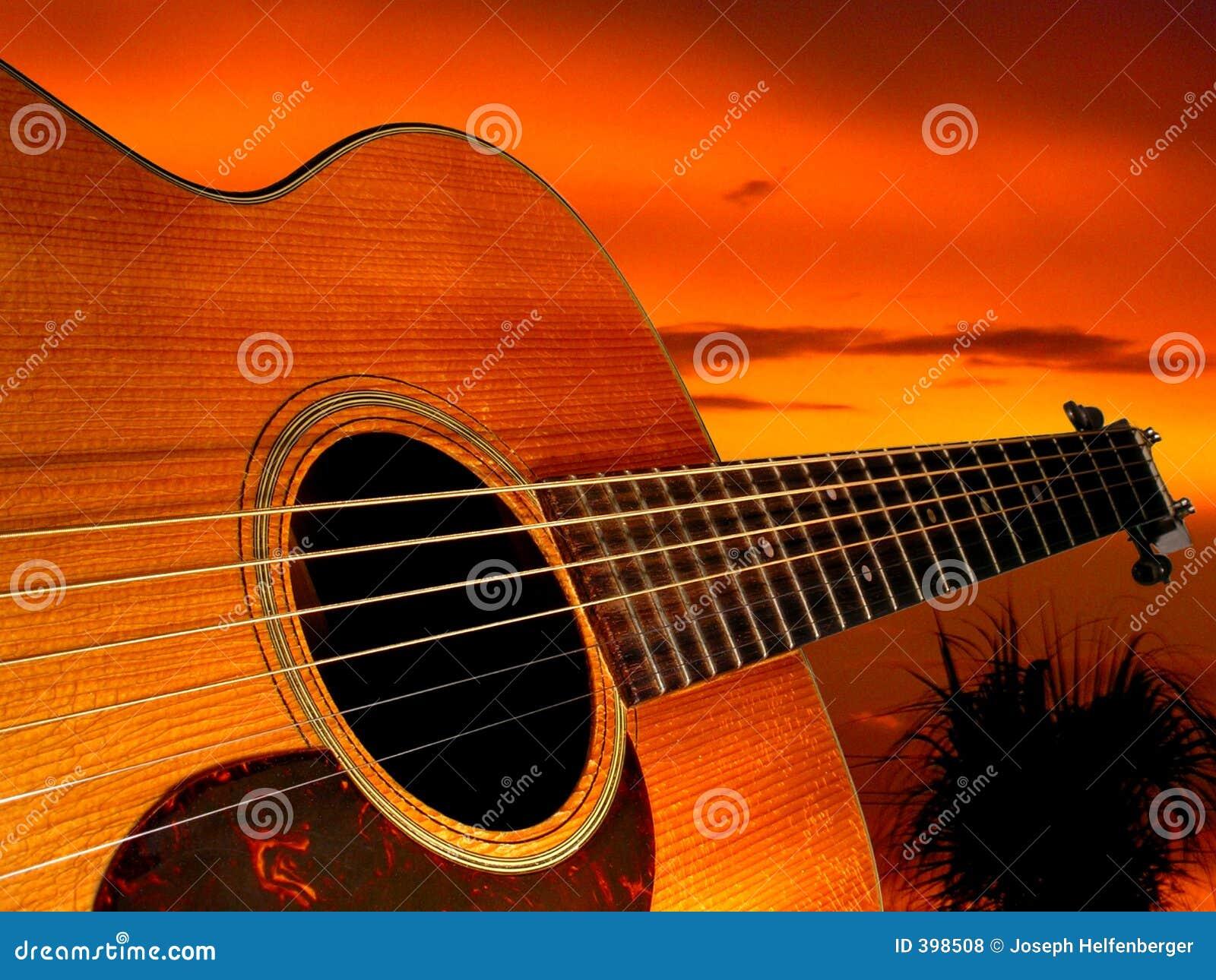 Gitarren-Sonnenuntergang