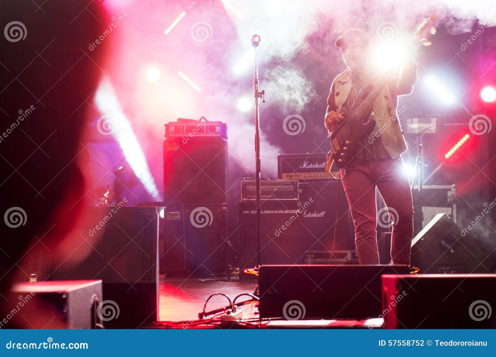 Gitarrist i mist