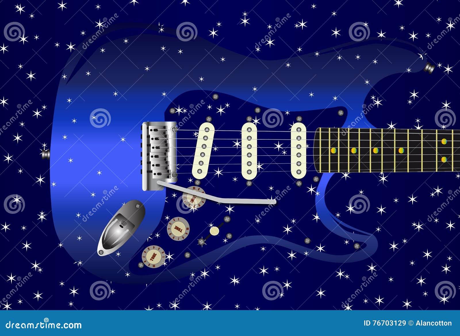 Gitarrstjärnabakgrund