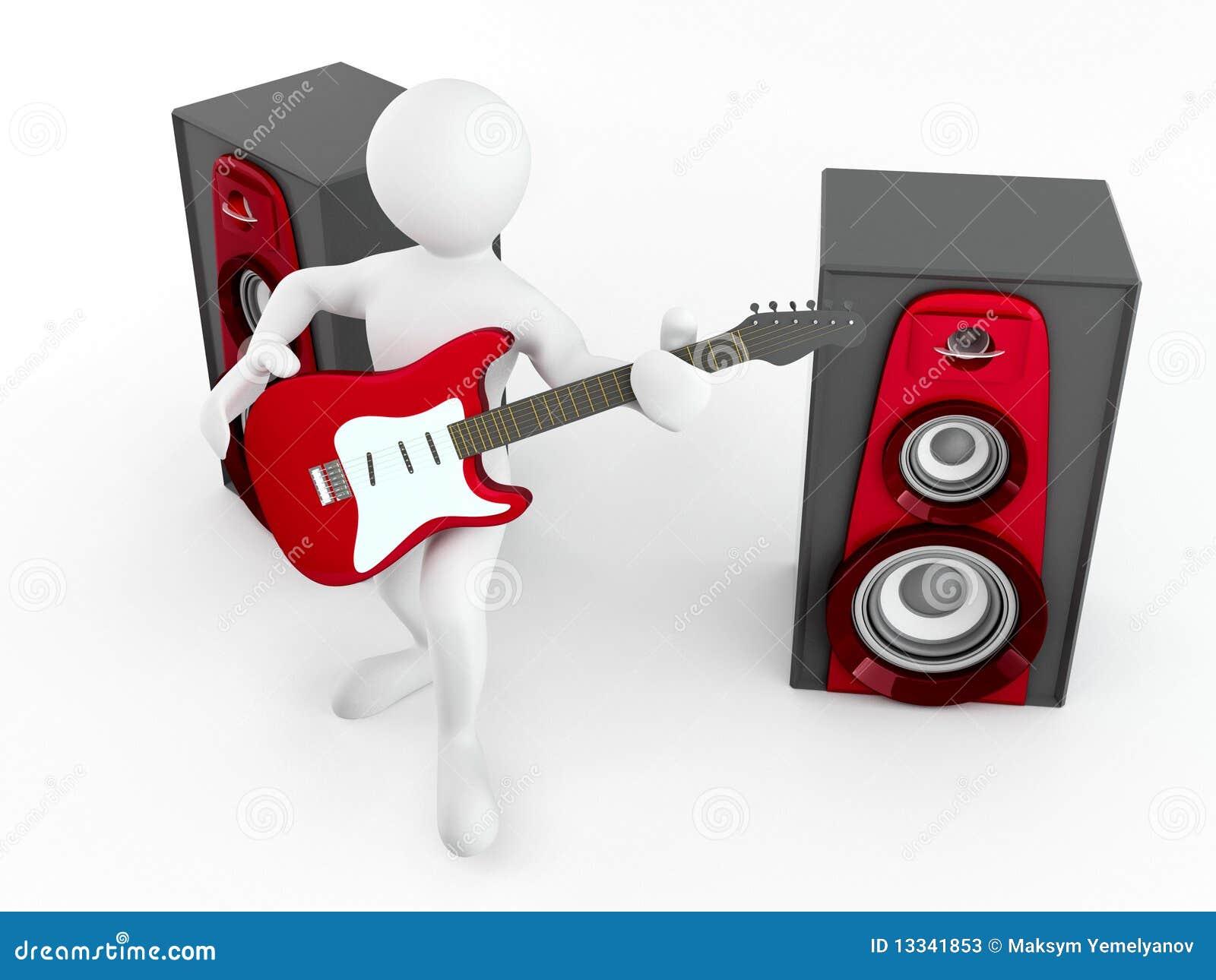 Gitary głośnika mężczyzna