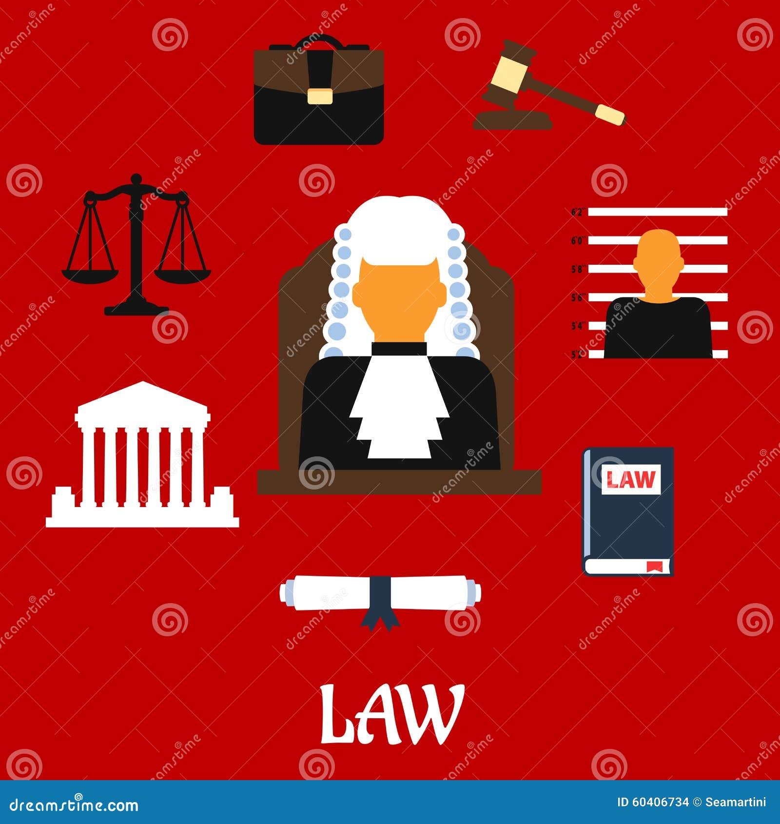 Giudice con le icone piane della corte