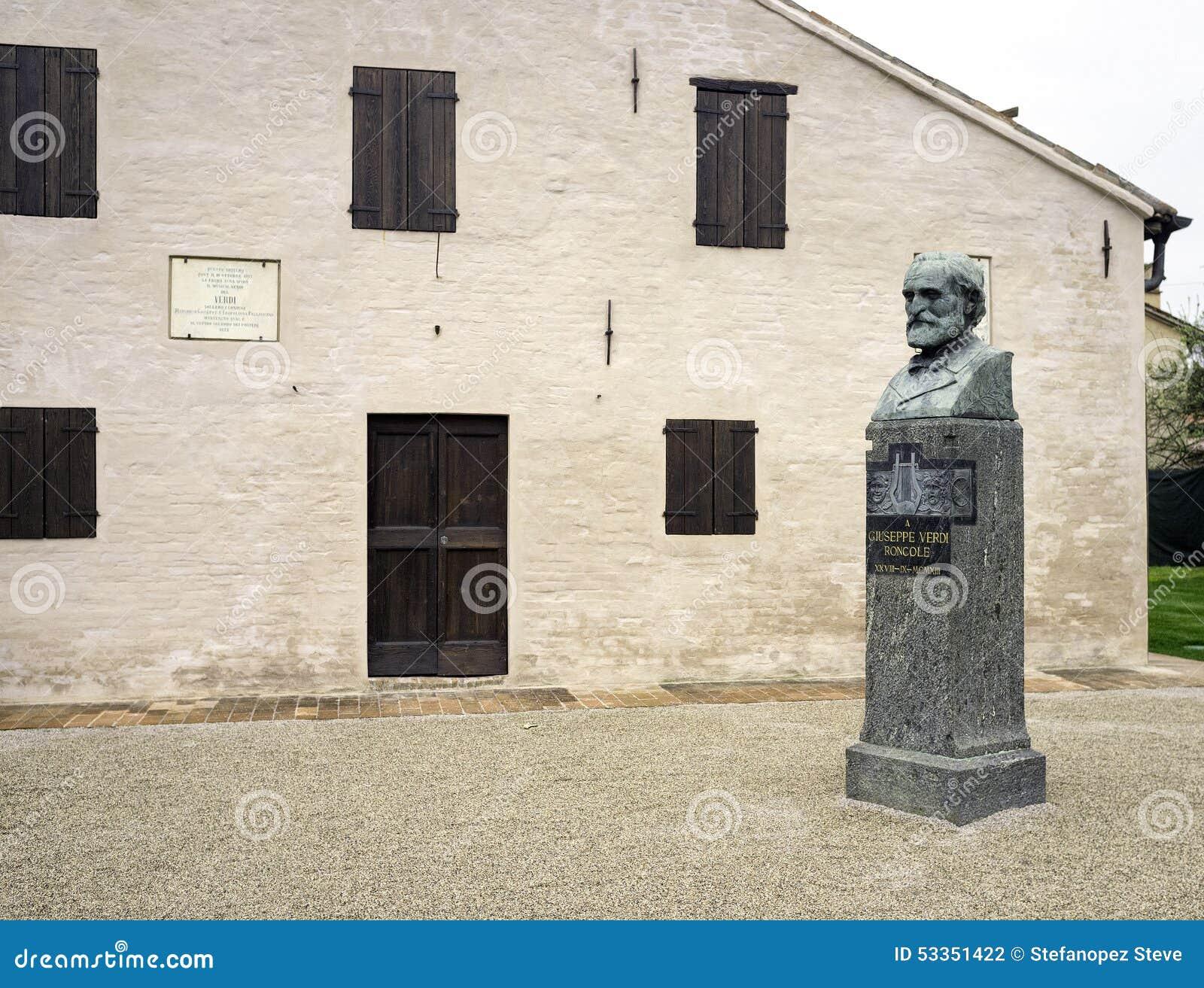 Giuseppe Verdi-geboortehuis, detail Het beeld van de kleur