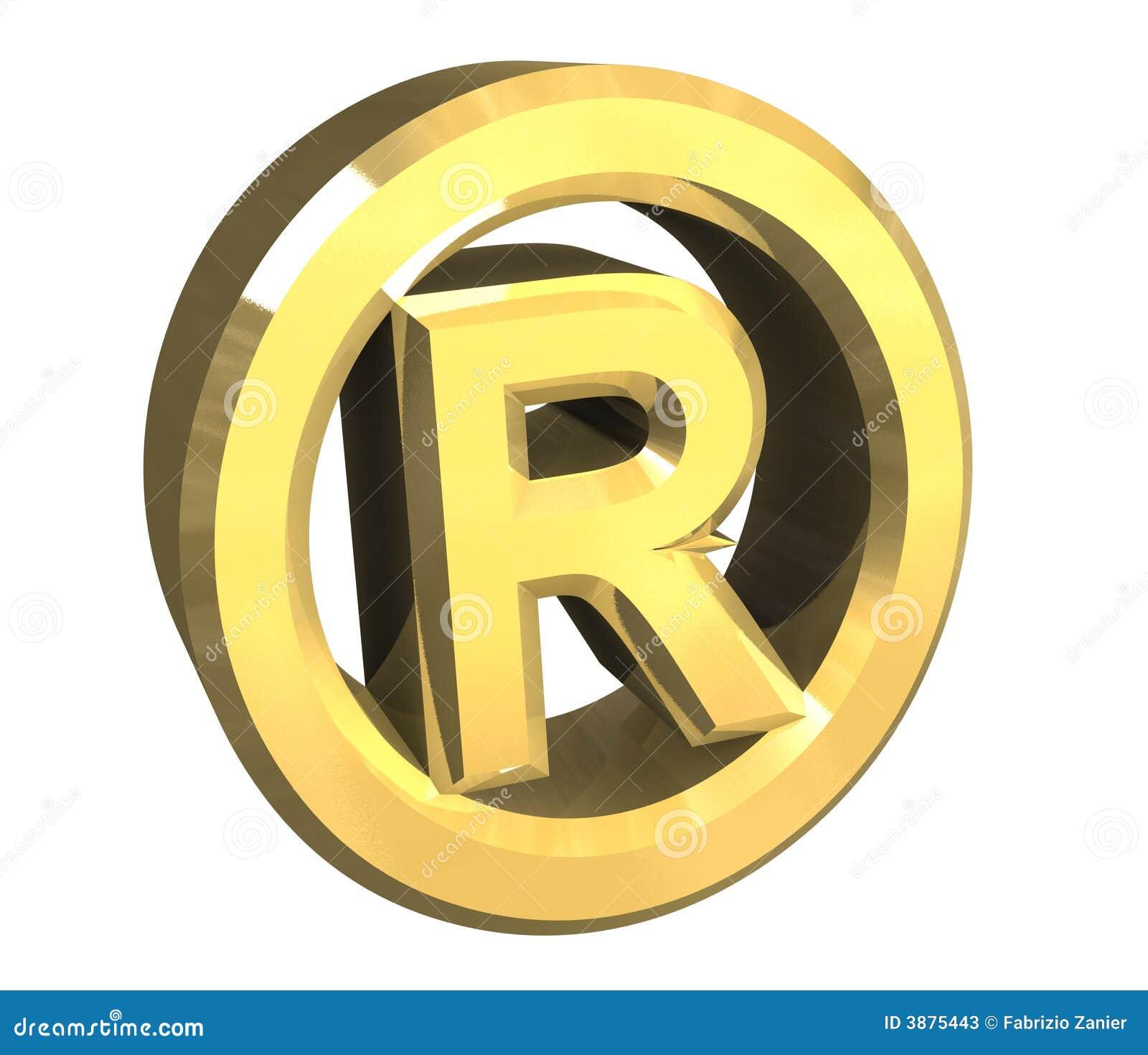 Giusto simbolo riservato in oro - 3d