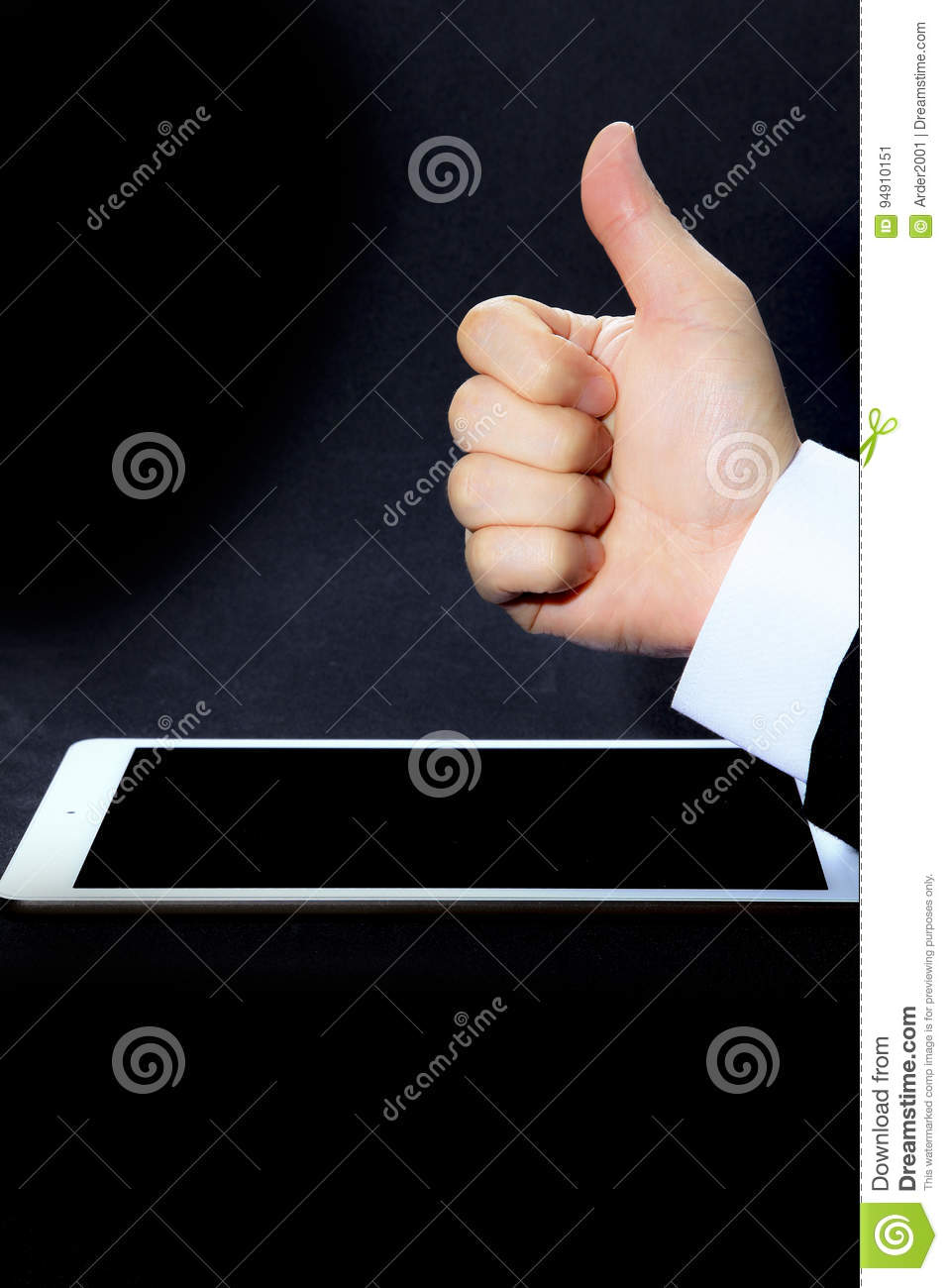 Give A Like And Thumbs Up Stock Image Image Of Gender 94910151
