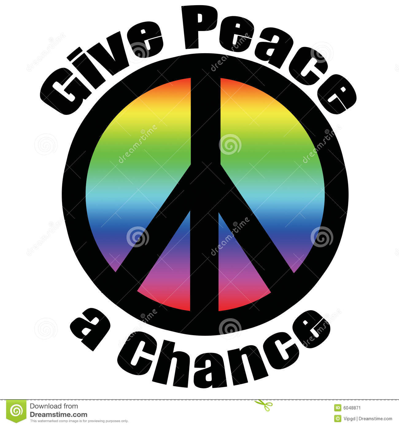 Give stock illustrations 32381 give stock illustrations give peace a chance peace symbol stroked in black in green gradient overlay stock image biocorpaavc Choice Image