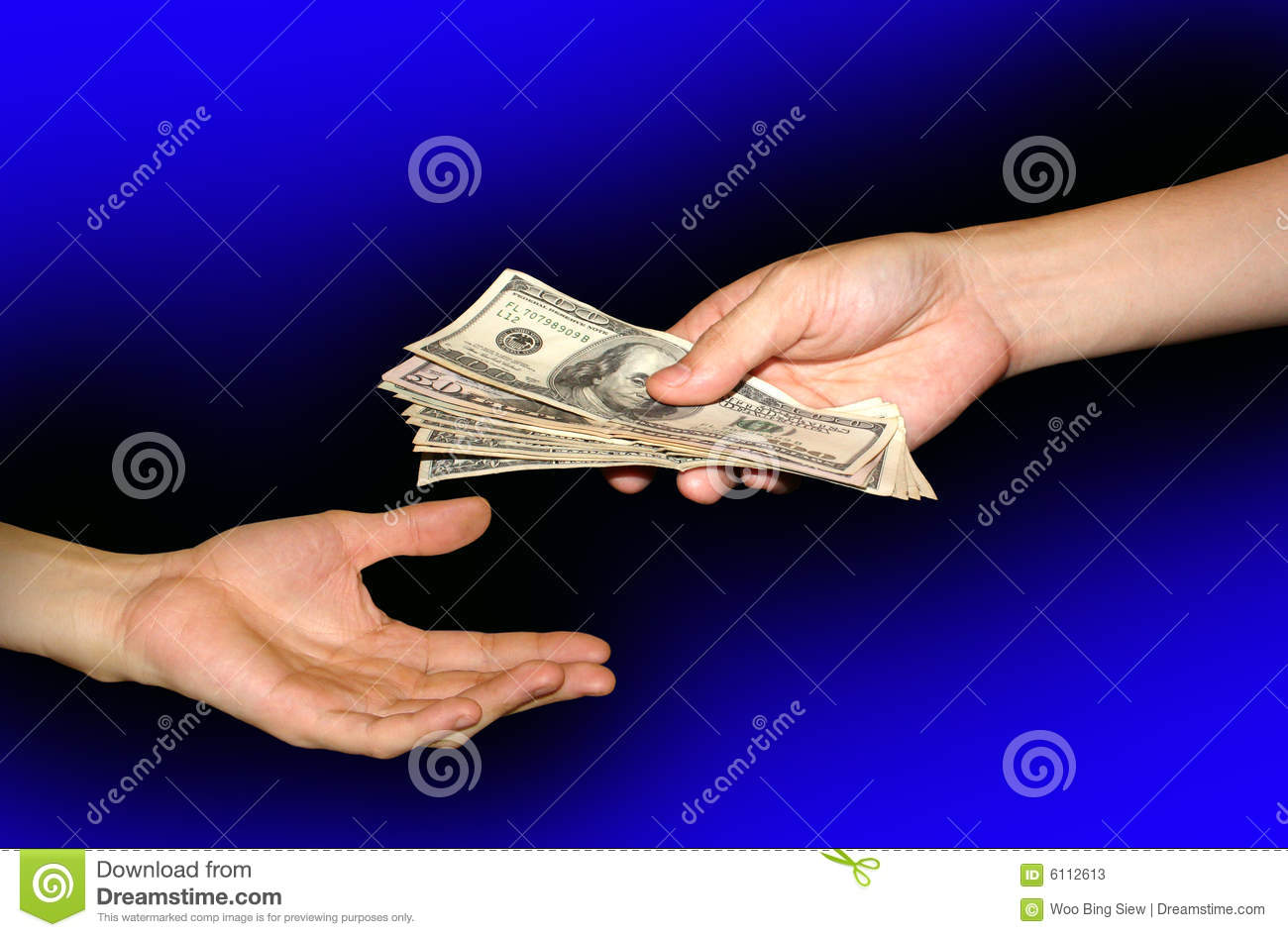 Give and receive money