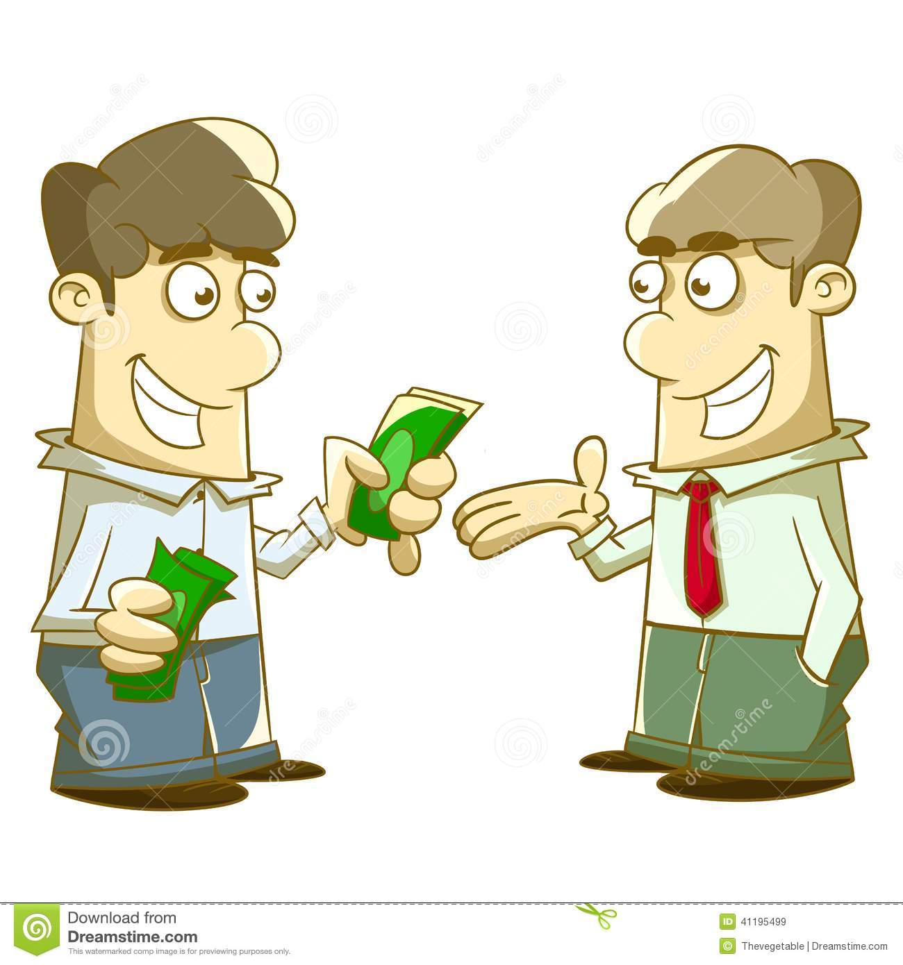Give And Take Allowance Stock Illustration - Image: 41195499