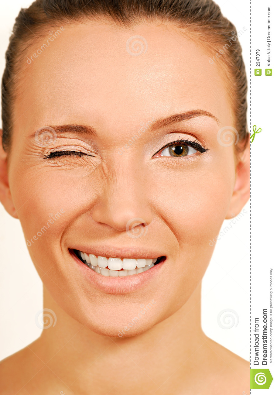 Give A Wink  Stock Image  Image Of Close  Happiness