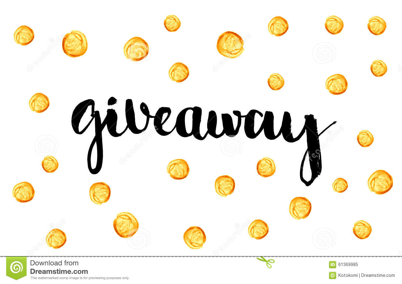 giveaway banner for social media contests stock vector