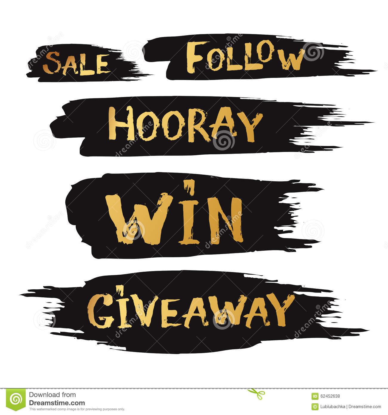 Giveaway And Special Sale Offer With Hand Drawn Lettering With B