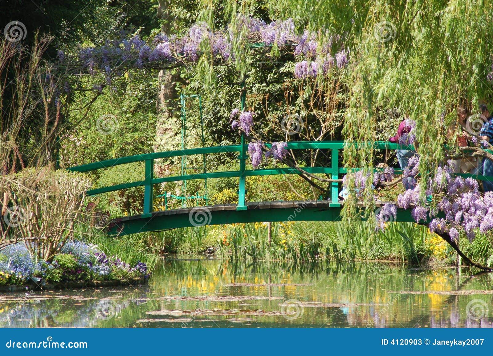 Giverney de tuin van monet stock afbeelding afbeelding 4120903 - Deco van de tuin ...