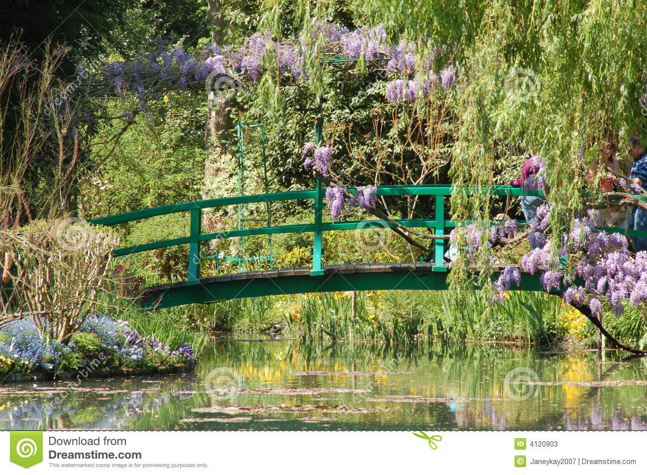 Giverney Monet S Garden Stock Image Image Of Plants