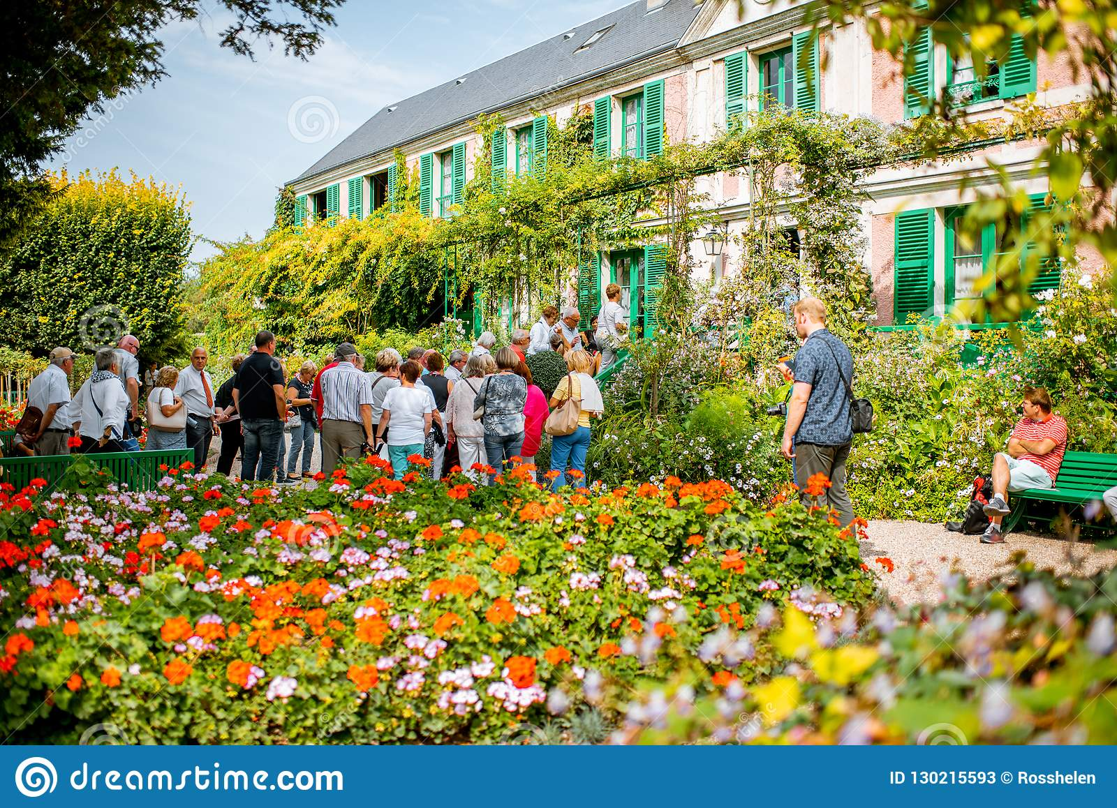 Map Of France Giverny.Beautiful House With Garden In Giverny France Editorial Stock Photo