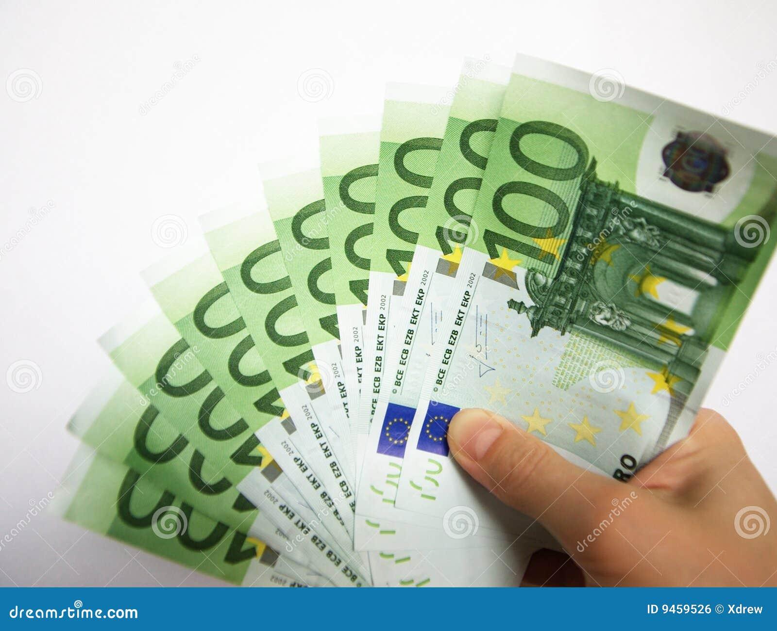 giving euro money stock photo image of five money hundred 9459526